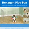Rosewood Hexagon Play Pen
